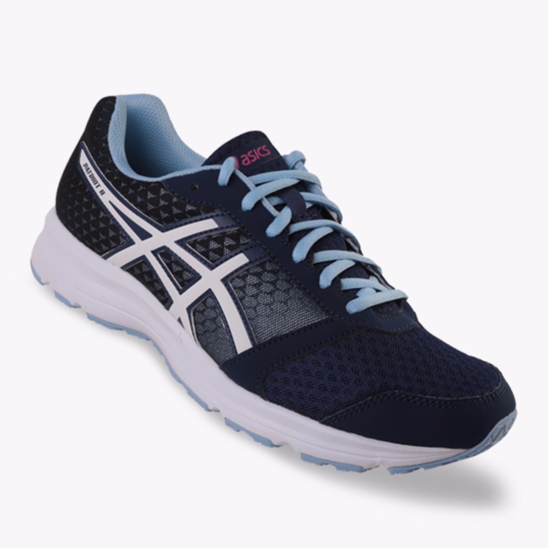 Toko Asics Patriot 8 Women S Running Shoes Standard Wide Navy Di Indonesia