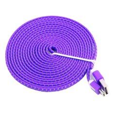 Askhev Kabel Data 3 Meter Tali Sepatu Micro USB - Ungu