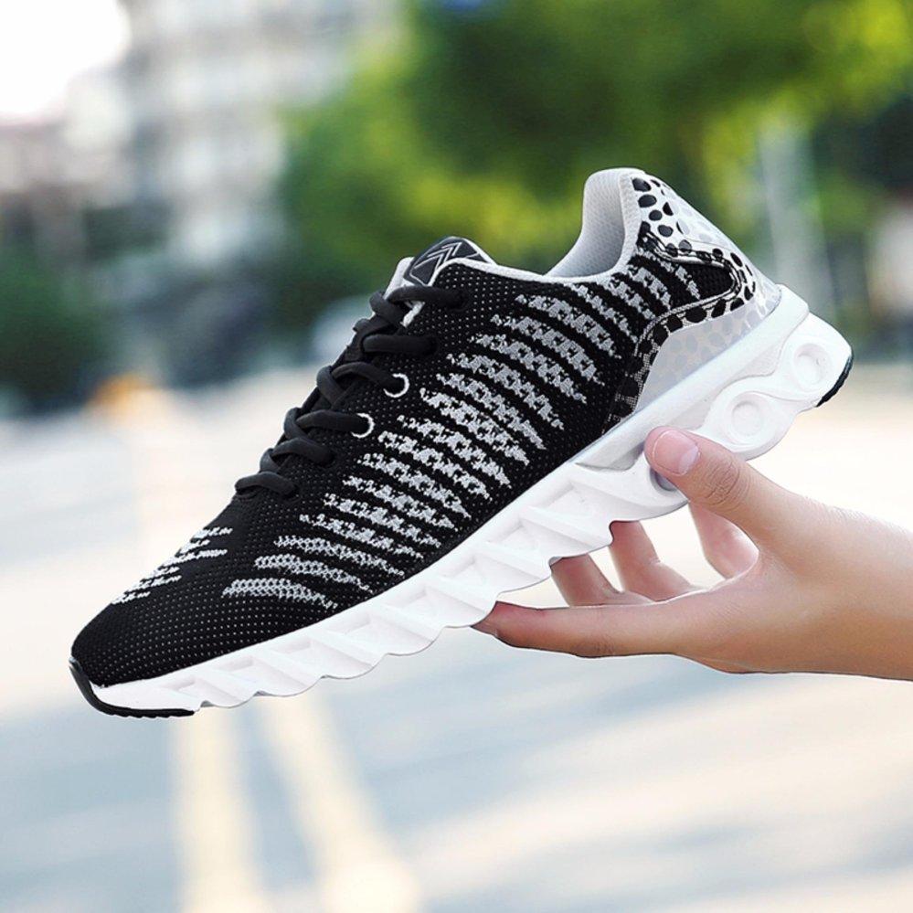 Asli outdoor olahraga atletik Sepatu lari sepatu kets pria (Hitam)