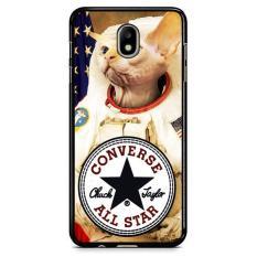 Astronaut Cat Converse W3097 Samsung Galaxy J3 Pro 2017 Custom Hard Case