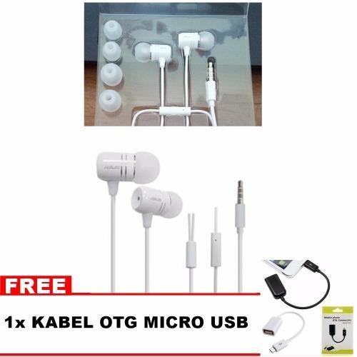 Jual Asus Handsfree Headset Asus Zenfone Bonus Kabel Otg Micro Usb Asus Murah