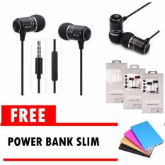 Jual Asus Handsfree Zenfone 2 Earphone Black Original Free Power Bank Slim Branded
