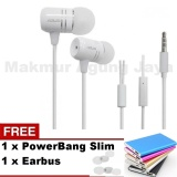 Beli Asus Handsfree Zenfone 2 Earphone Original White Putih Free Powerbank Slim 99000Mah Warna Random Free Eartbus Cicilan