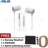 Jual Asus Headset Series In Ear Earphone With Microphone Original Zenfone 2 Spiral Pelindung Kabel Sarung Headset Earbuds Asus Murah