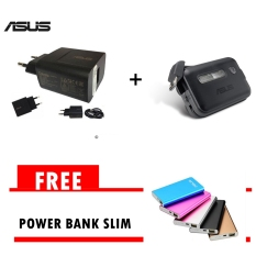 Asus Original Travel Charger Zenfone 5 Non-Pack + Asus zenflash  Free Asus Power Bank 5800 mah