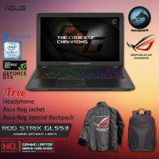 Asus ROG STRIX GL553VD-FY280T With Intel Core i7-7700HQ Nvidia GTX1050 4GB GDDR5 8GB RAM DDR4 1TB HDD + Windows 10 + Asus Rog Jacket + Asus Rog Special Backpack Garansi Resmi 2 Tahun