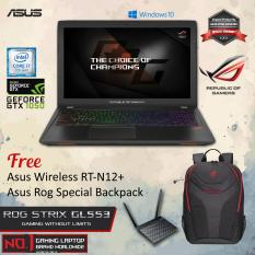 Asus ROG STRIX GL553VD-FY280T With Intel Core i7-7700HQ Nvidia GTX1050 4GB GDDR5 8GB RAM DDR4 1TB HDD + Windows 10 + Free Asus Wireless RT-N12+ + Asus Rog Special Backpack Garansi Resmi 2 Tahun