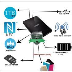 Asus Travelair N (WHD-A2) HDD/Hardisk  Eksternal Wireless, NFC, WI-FI SECURTY, USB 3.0, BATREY LIFE Free ZenPower