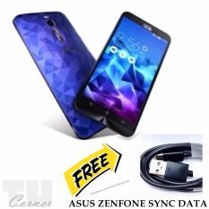 ASUS Zencase Ilussion Zenfone 2 ZE551ML 5.5 Inch Biru + Free ASUS Sync Data Micro USB