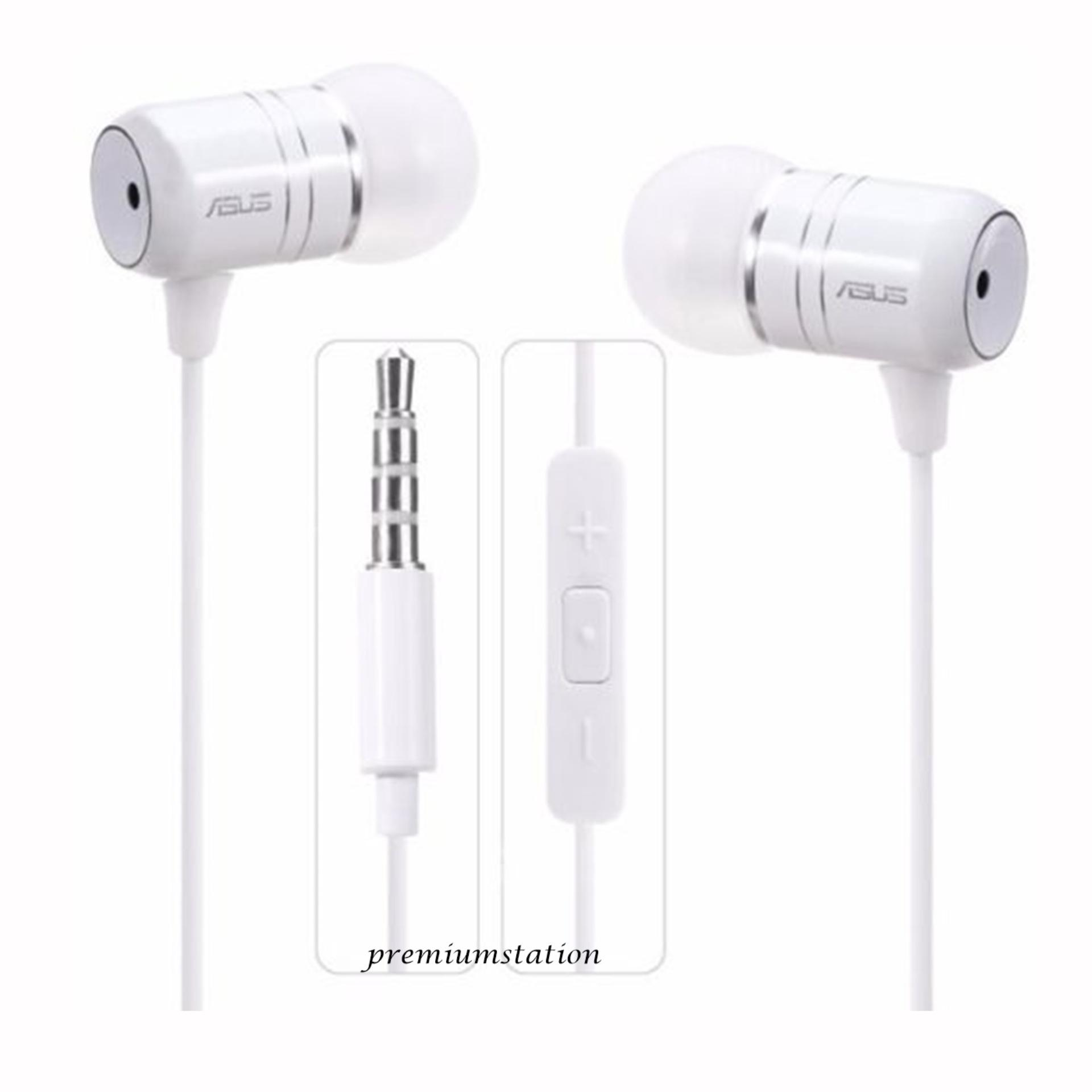Jual Asus Zenfone 2 Headset Hansfree Ear Bass Phones Zenfone 2 Putih Original