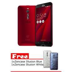 Model Asus Zenfone 2 Ze551Ml 2 16 1 8Ghz Red Free Zencase Illusion Cover Blue And White Terbaru