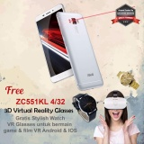 Spek Asus Zenfone 3 Laser Zc551Kl 5 5 4G 4 32 13Mp Fingerprint Free Stylish Watch Vr Glasses Resmi