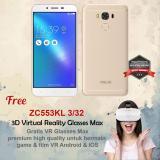 Spesifikasi Asus Zenfone 3 Max Zc553Kl 3 32 4G 16Mp Sensor Sony Free Vr Glasses Garansi Resmi Lengkap Dengan Harga