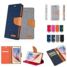 ASUS ZENFONE 4 Denim Leather Wallet Case with Card Slots Dompet Kartu Zenfone4