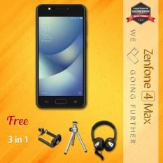Asus Zenfone 4 Max ZC520KL 4G 3/32 13MP + 5MP + 8MP Android N + Free Mini Tripod + Holder U + Headphone Garansi Resmi