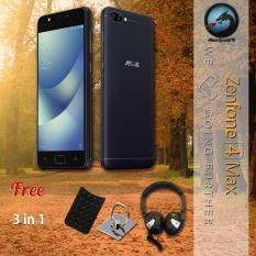Asus Zenfone 4 Max ZC520KL 4G 3/32 13MP + 5MP + 8MP + Free Ring Holder + Gurita Holder + Headphone Android Nougat Resmi