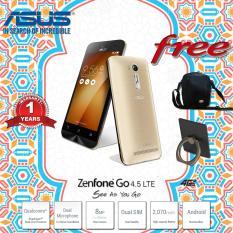 Asus Zenfone GO ZB450KL 4G LTE Gold Garansi Resmi Free Tas Keren & RIng