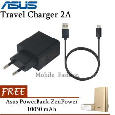 Asus Zenfone Travel Charger 5V 2A Original FREE Powerbank Asus Zenpower 10050 mAh