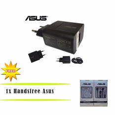Asus Zenfone Travel Charger 5V 2A Original NonPack +  Headset Asus ( Earphone Zenfone, Headset Jack 3,5mm )