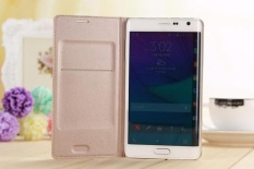 Beli Asuwish Flip Cover Untuk Samsung Galaxy Note Edge N9150 N915 N915F Slim Asli Telepon Case Dompet Kredit