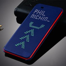 Asuwish For HTC 820 G Slim Dot Bag Smart Auto Sleep View Shockproof Silicone Original Leather Case Flip Cover For HTC Desire 820 820G