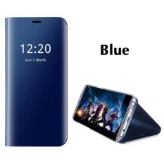 Asuwish Pintar Chip IC Telepon Case untuk Samsung Galaksi Note 8 Mewah Bening Tampilan Dibangun Di-Dalam Penyangga Cermin Keras Lipat Sarung -Internasional