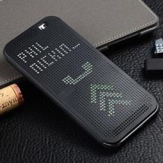 Asuwish Smart Flip Cover Silicone Case untuk HTC One E8 Dot Sleep Wake View Original Shockproof Silicon Kasus Telepon untuk HTC One E8-Intl