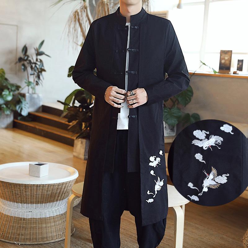 Harga Gaya Oriental Etnis Angin Republik Cina Setengah Panjang Model Pakaian Adat Tiongkok Hitam Satu Set