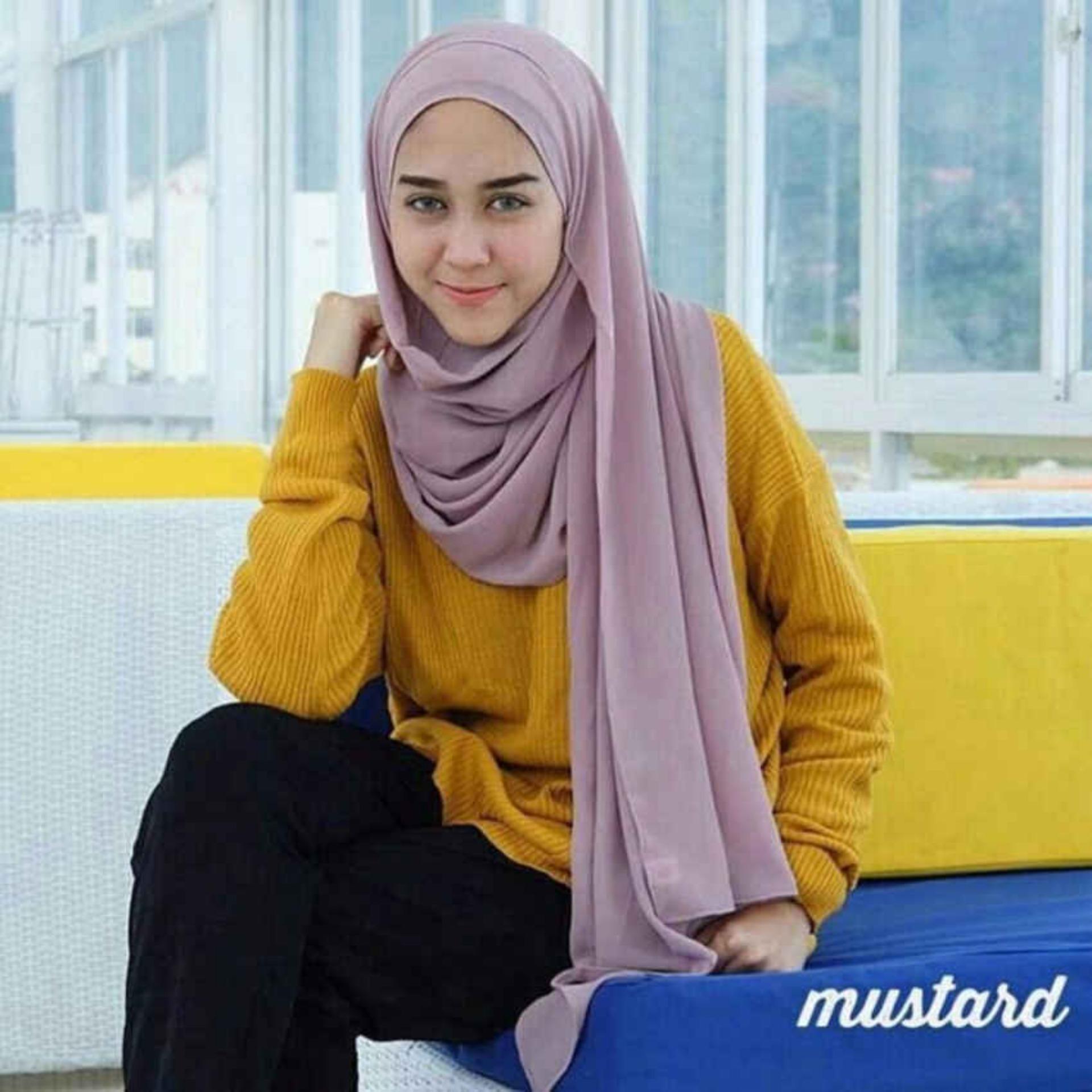Diskon Ataya Boxy Sweater Premium Mustard Best Seller Branded