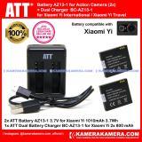 Harga Att Battery Xiaomi Yi 2Pc 1010Mah Att Dual Charger Xiaomi Yi Action Camera New
