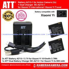 Toko Att Battery Xiaomi Yi 2Pc 1010Mah Att Dual Charger Xiaomi Yi Action Camera Terlengkap