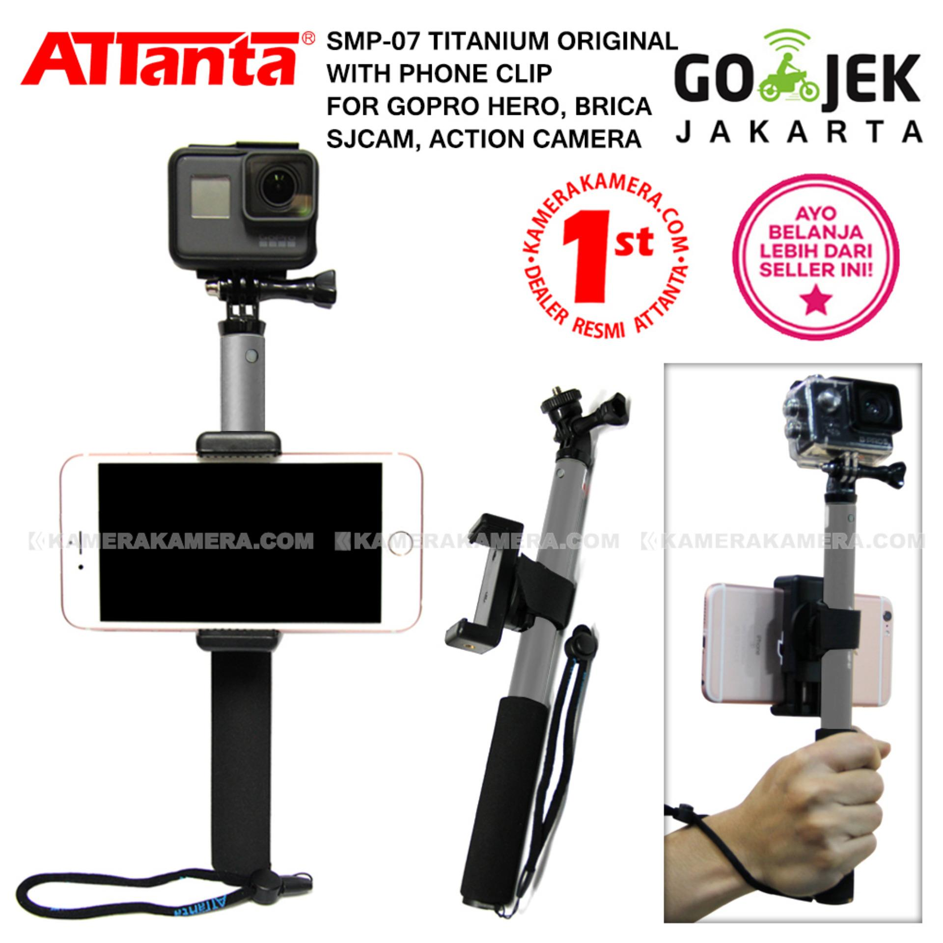 Jual Produk Attanta Termurah Terbaik Universal Clamp Holder U Hp Tongsis Smp 07 Original Titanium Phone Clip For Gopro Action Camera