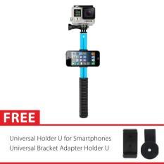 Jual Attanta Smp 08 Tongsis Titanium With Foldable Holder For Gopro Xiaomi Yi Sj4000 Sj5000 Smartphone Biru Attanta Branded