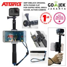 ATTANTA SMP-09 ORIGINAL (Black) Tongsis + Phone Clip for GoPro Hero, Xiaomi Yi, Brica, Mirrorless, HP