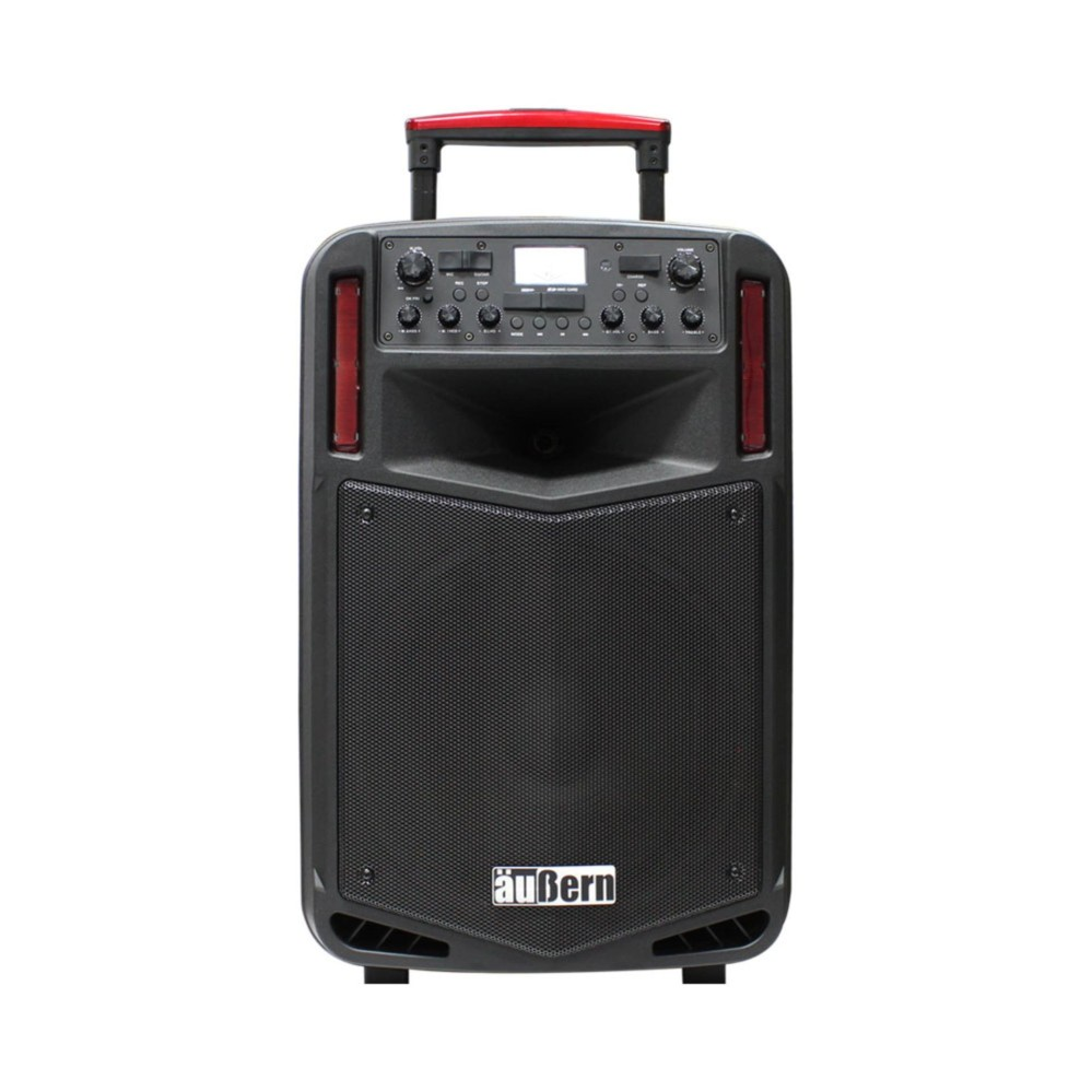 Aubern BE-12CX Speaker Portable Audio PA System with 2 Wireless Mic