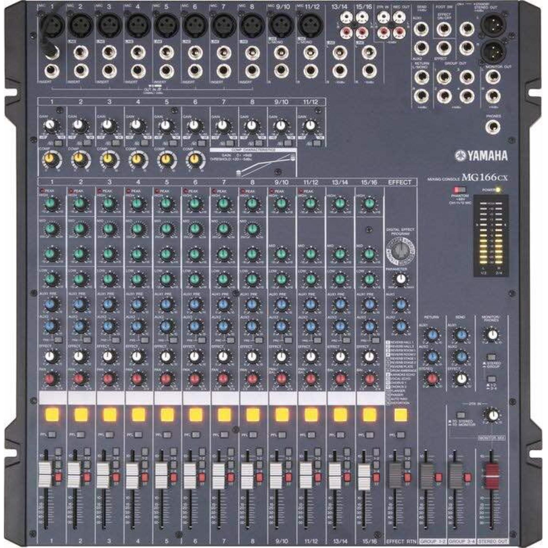 Audio Mixer YAMAHA MG 166 CX USB