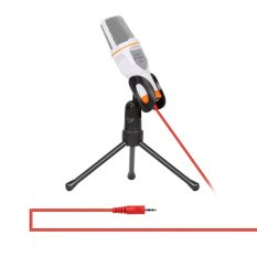 Audio Professional Condenser Microphone Mic Studio Sound Recording + Mini Desktop Tripod(White) - intl