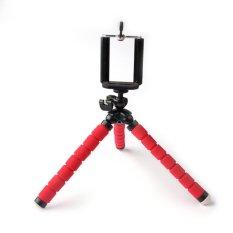 AUKA Mini Portable Fleksibel Sponge Octopus Tripod Stand Mount dengan Holder untuk Telepon Action Camera dan Camcorder/redmi 3 S Dudukan Telepon-Internasional