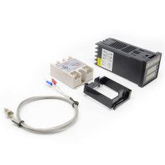 Harga Aukey 220 V Digital Pid Rex C100 Pengendali Suhu Maks 40A Ssr K Termokopel International Aukey Terbaik