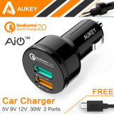 Aukey Auto 2 Ports Smart Car Charger For Iphone 6S Samsung Galaxy S6 Htc Nexus 6 Xiaomi Intl Di Tiongkok