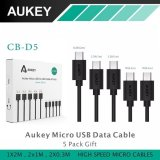 Obral Aukey Cb D5 5 Pack Fast Charging Cable Micro Usb Data Sync Black Murah