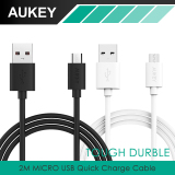 Jual Aukey Cb D9 2M Hi Speed Long Micro Usb Cable Support Fast Charging Black Import