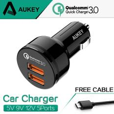 Jual Aukey Cc T8 Dual Quick Charge 3 Car Charger Fast Charging Online Dki Jakarta