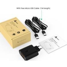 ... Aukey Charger Usb 2 Port Eu Plug 36W Dengan Qc 2 0 & Aipower Pa