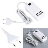 Jual Aukey Baru 15 W Usb 4 Port Dinding Desktop Ponsel Charger Adaptor Pengisian Konektor Internasional