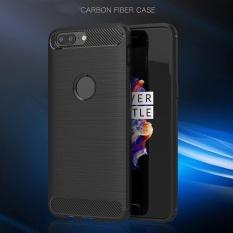 AUkEy Baru Slim Shockproof Fiber TPU Kasus Proteksi Ponsel Cover Kulit untuk OnePlus 5-Intl