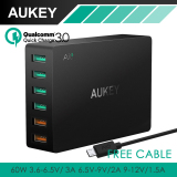 Jual Aukey Pa T11 6 Port Charger Universal Charger Cepat Perjalanan Usb 3 Hitam Online