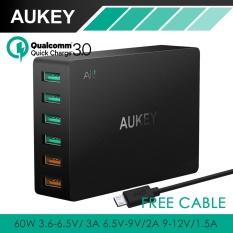 Harga Aukey Pa T11 6 Port Usb 3 Travel Quick Charger Universal Charger Hitam Uk Us Plug Intl Aukey Original