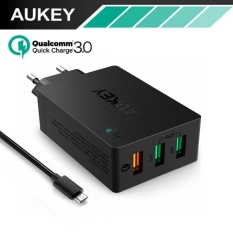 Beli Aukey Pa T14 Quick Charge 3 Wall Charger Usb 3 Port Fast Charging Lengkap