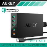 Jual Aukey Pa T15 Quick Charge 3 Wall Charger Usb 5 Port Fast Charging Satu Set